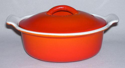 Vtg Descoware 19 Flame Ceramic Cast Iron Fry Pan Skillet